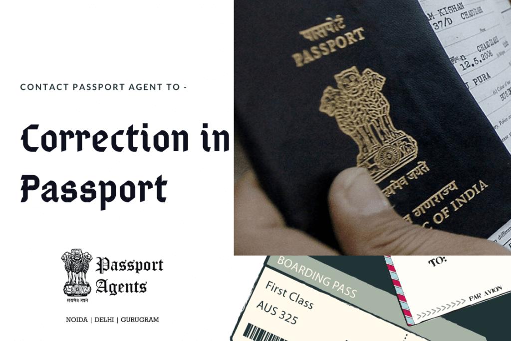 Passport Agent in Delhi for Correction in Passport