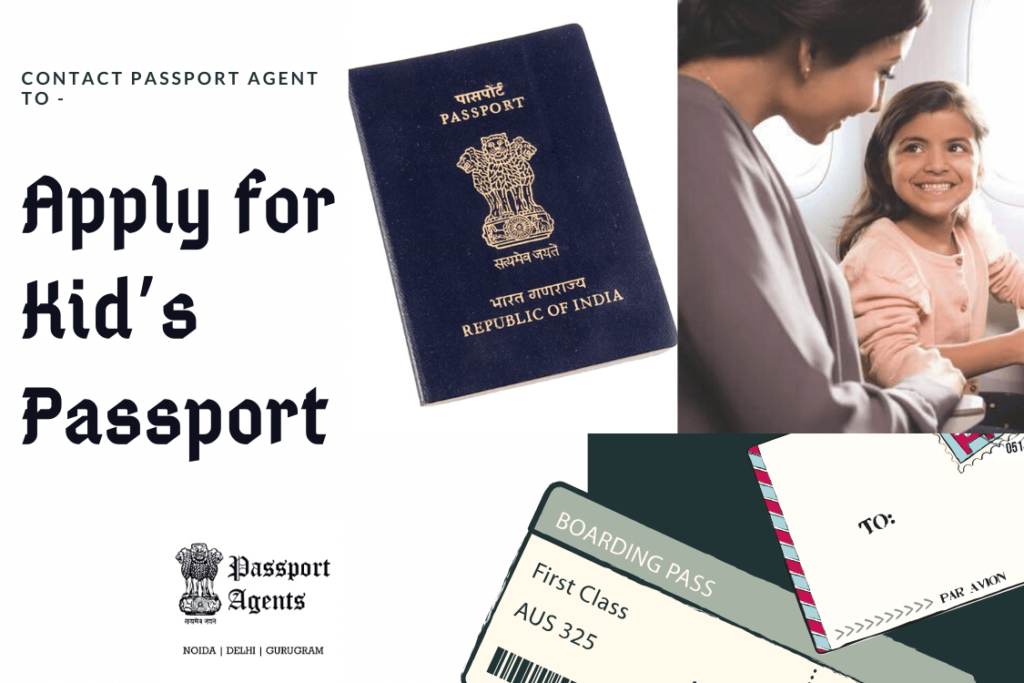 Passport agent in Delhi to apply for Kid's Passport