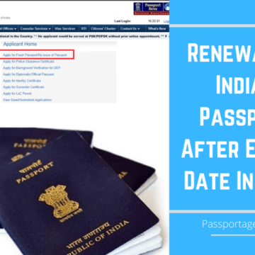 Renewal of Indian Passport After Expiry Date In India